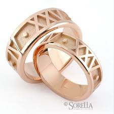 numeral ring custom numeral rings in gold by sorella jewelry studio