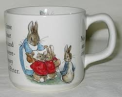 wedgewood rabbit beatrix potter rabbit children s mug wedgewood