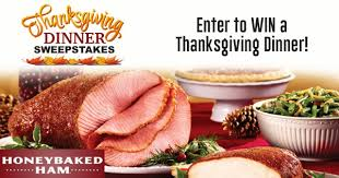 honey baked thanksgiving dinner contests and promotions