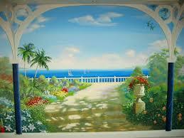 tropical garden mural node pinterest garden mural tropical Garden Mural Ideas