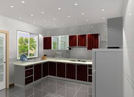 Contemporary Kitchen Cabinet Doors Entrancing L Shape Contemporary Kitchen Cabinets Come With Red
