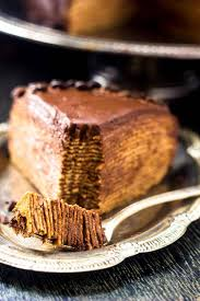 crepe cake with chocolate ganache food faith fitness