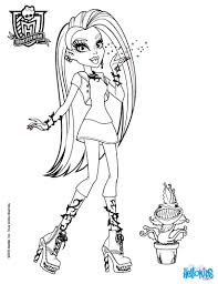 monster high color pages free printable monster high coloring