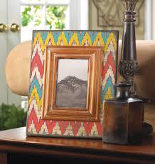 ikat chevron wood photo frame wholesale at koehler home decor