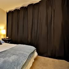 curtain room divider ideas dark brown microfiber grommet hanging curtain room divider of