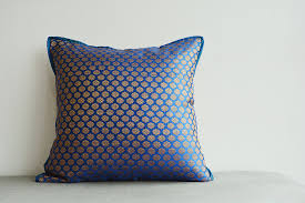 royal blue and gold brocade pillow dark blue brocade discovered