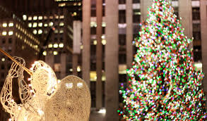 brown christmas tree large big christmas tree in new york christmas lights decoration