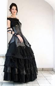 a gothic wedding gown