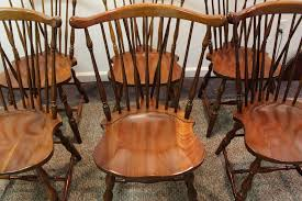 Pennsylvania House Cherry Dining Room Set Set Of 8 Pennsylvania House Brace Back Windsor Dining Chairs Sold