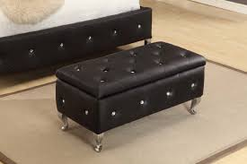 Leather Ottoman Bench Attractive Bedroom Ottomans And Benches Including Storage Stool