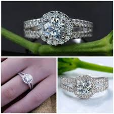 zircon rings images Sterling silver rings online 1ct synthetic zircon engagement jpg