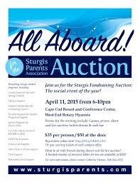 all aboard u201d annual auction and dinner u2013 sturgis soundings magazine