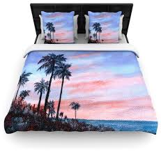 rosie brown florida sunset palm tree duvet cover contemporary
