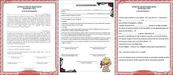 formato de acta de nacimiento en blanco gratis ensayos acta de matrimonio y divorcio para la kermes o festival del día del