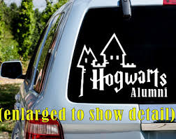 hogwarts alumni decal hogwarts alumni decal etsy