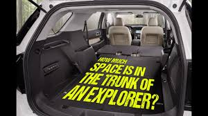 Ford Explorer Trunk Space - how much space is in the trunk of the 2017 ford explorer youtube