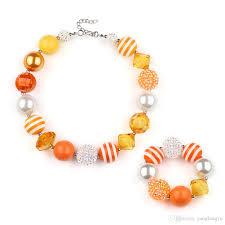 orange necklace sets images New popular children 39 s clothing orange necklace set simple and jpg