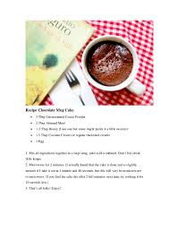 recipe healthy chocolate mug cake