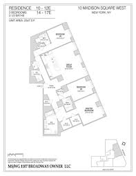 West 10 Apartments Floor Plans by Ten Madison Square West Flatiron Nomad Manhattan Scout