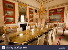 uk england bedfordshire woburn abbey interior the dining room