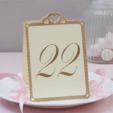 gold wedding table numbers heart wedding table numbers ivory and gold 13 to 24 by ginger ray