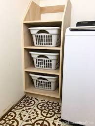 Laundry Room Basket Storage Stackable Laundry Basket Storage A Houseful Of Handmade