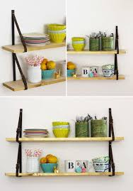 Quirky Bookcase Diy Shelves With Belt Straps At Home In Love