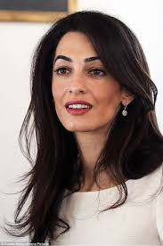 is amal clooney hair one length amal clooney leaves athens hotel ahead of meeting over return of