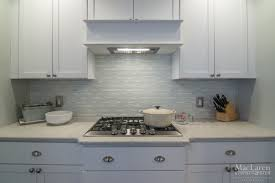 Blue Backsplash Kitchen Glass Blue Backsplash For Under Hood And Behind The Range