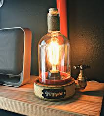 upcycled elijah whiskey bottle lamp whiskey bottle bottle and