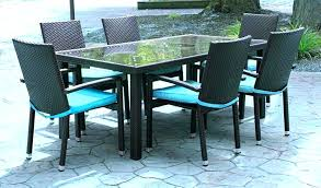 7pc Patio Dining Set Black 7 Dining Set 7 Dining Table Set Interiors 7