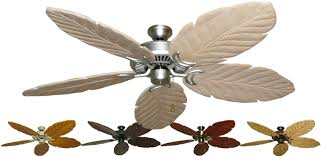 ceiling fan palm blade covers palm leaf ceiling fan blades new fans tropical throughout