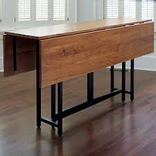 dining room table that folds lengthwise to get out of the way when