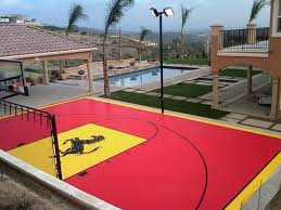 Sports Courts For Backyards Backyard Multi Sport Home Basketball Court Contemporary