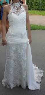 occasion mariage de mariée cymbeline en soie et dentelle d occasion