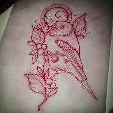 neotraditional bird tattoo design