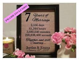 7th wedding anniversary gifts for framed 7th anniversary gift 7th wedding anniversary gifts