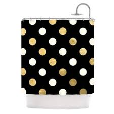 Kess Shower Curtains Golden Dots Shower Curtain By Kess Original Kess Inhouse