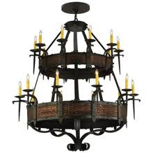 Gothic Chandelier Wrought Iron Hand Forged And Wrought Iron Ceiling Mounted Lighting Lamps
