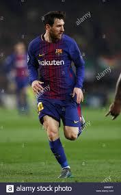 Lionel Messi Leg Barcelona Spain 14th Mar 2018 Lionel Messi Barcelona Stock