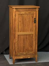 deluxe mission one door jelly cupboard amish furniture factory