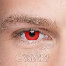 red halloween 90 colored prescription contact lenses scary lens