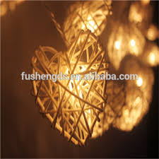 rattan ball fairy lights 20 led white hearts rattan ball string lights for home decoration