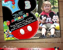 template mickey mouse clubhouse birthday party invitations