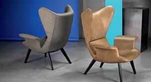 Moroso Armchair Contemporary Armchair Fabric Leather High Back Longwave By