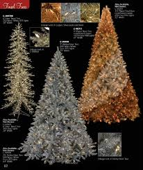 designer tinsel trees