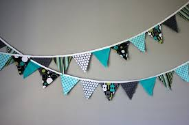 make fabric pennant bunting fabric birthday bunting template