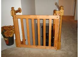 tiny baby gate for stairs with railing for wood gate
