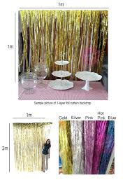 Silver Foil Curtains Foil Fringe Curtain Australia Functionalities Net