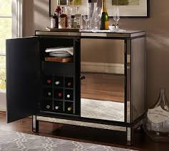 Mirrored Bar Cabinet Marnie Mirrored Bar Cabinet Pottery Barn Kitchen Pinterest
